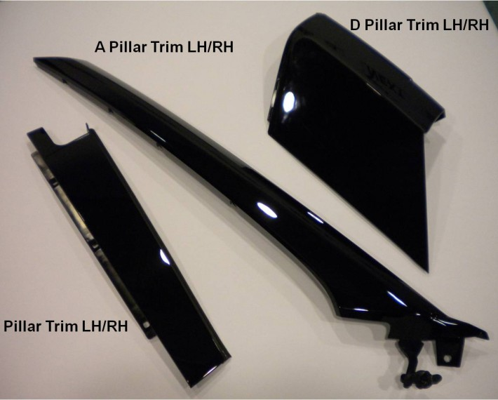 PMMA Pillar trim LH/RH